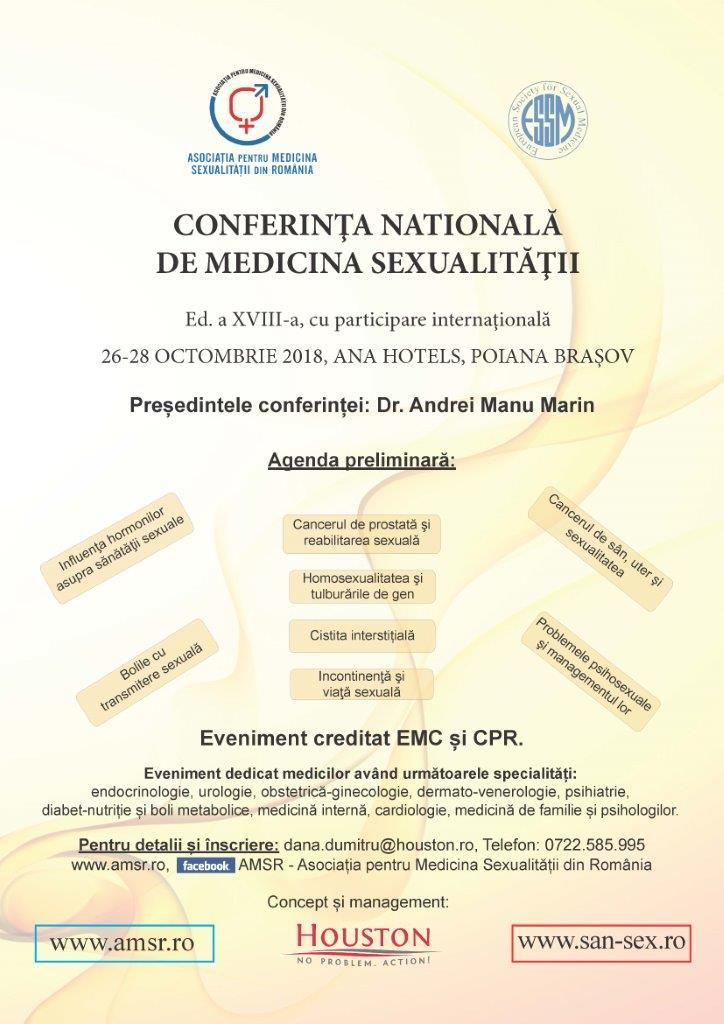 Conferinta Nationala de Medicina Sexualitatii editia XVIII Poiana Brasov